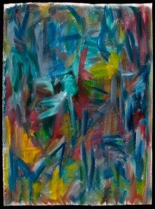 BlueAlizarinYellow  - 35x26 – Oil 2005